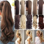 long clawithwrap tie ponytail