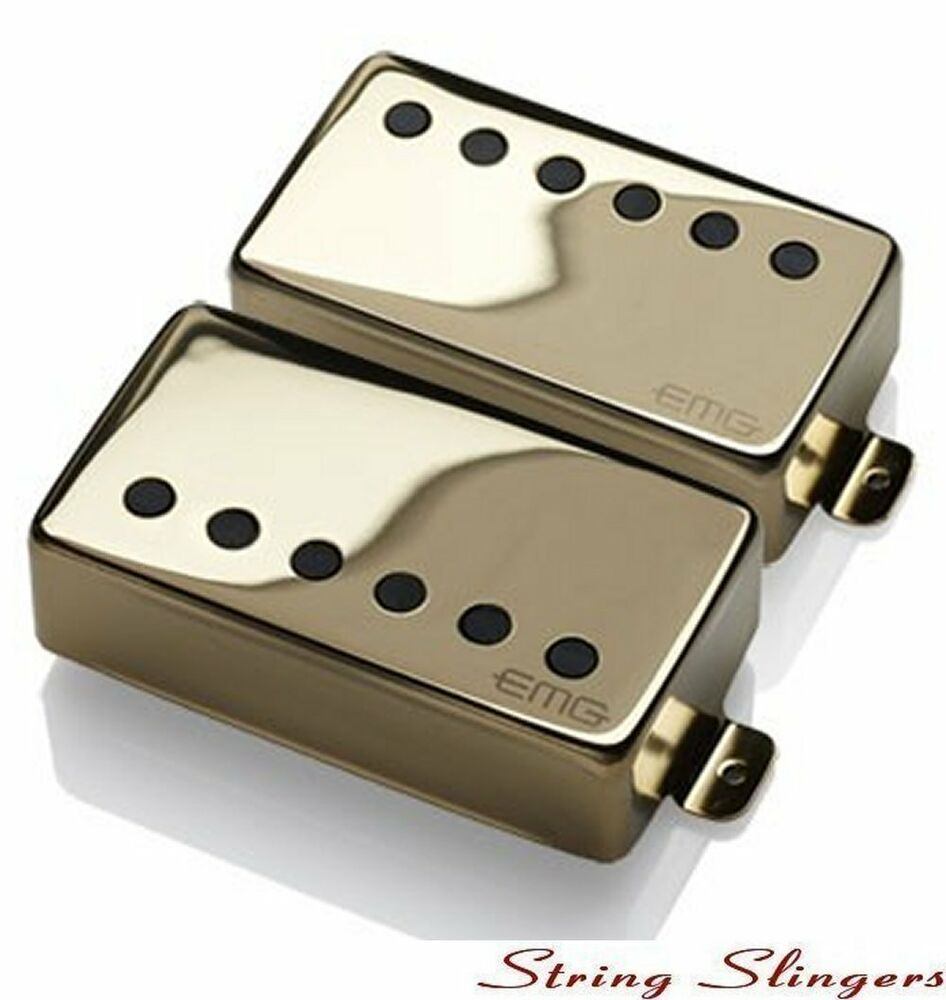 hight resolution of emg 57 emg 66 pair of active humbuckers gold solderless 654330103551 ebay