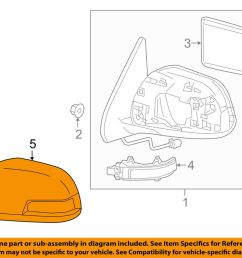toyota oem tacoma door side rear view mirror cover cap trim left toyota 3 4 v6 supercharger side view toyota 3 4 v6 engine diagrams electrical  [ 1000 x 798 Pixel ]