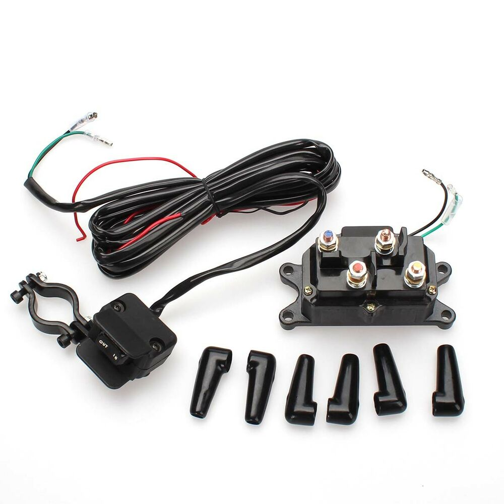 hight resolution of details about atv 12v 250a starter solenoid relay contactor winch rocker thumb switch kit