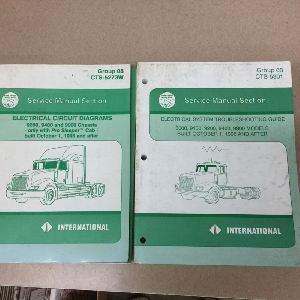 medium resolution of international ih 5000 9200 9400 9900 electrical diagrams troubleshooting manuals ebay