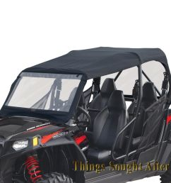 details about canvas cab enclosure for 2011 polaris rzr 4 800 900 le xp eps rzr4 razor roof [ 1000 x 1000 Pixel ]