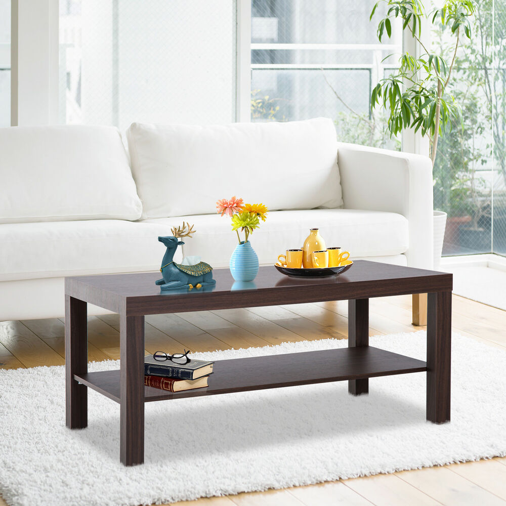 living room table with storage decoration ideas for large walls minimal wood coffee 2 tier side shelf details about office