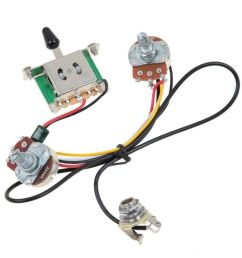 details about electric guitar wiring harness prewired kit 5 way toggle switch 1 volume 1 tone [ 1000 x 1000 Pixel ]