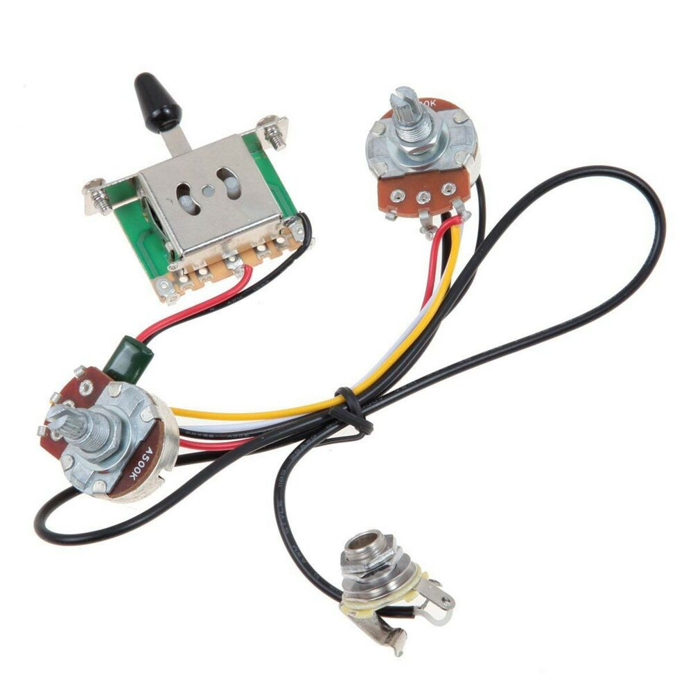 hight resolution of details about electric guitar wiring harness prewired kit 5 way toggle switch 1 volume 1 tone