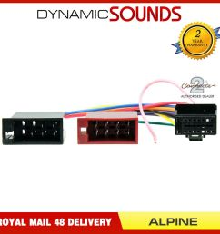 details about ct21al01 16 pin to iso lead headunit radio wiring harness car stereo for alpine [ 1000 x 1000 Pixel ]