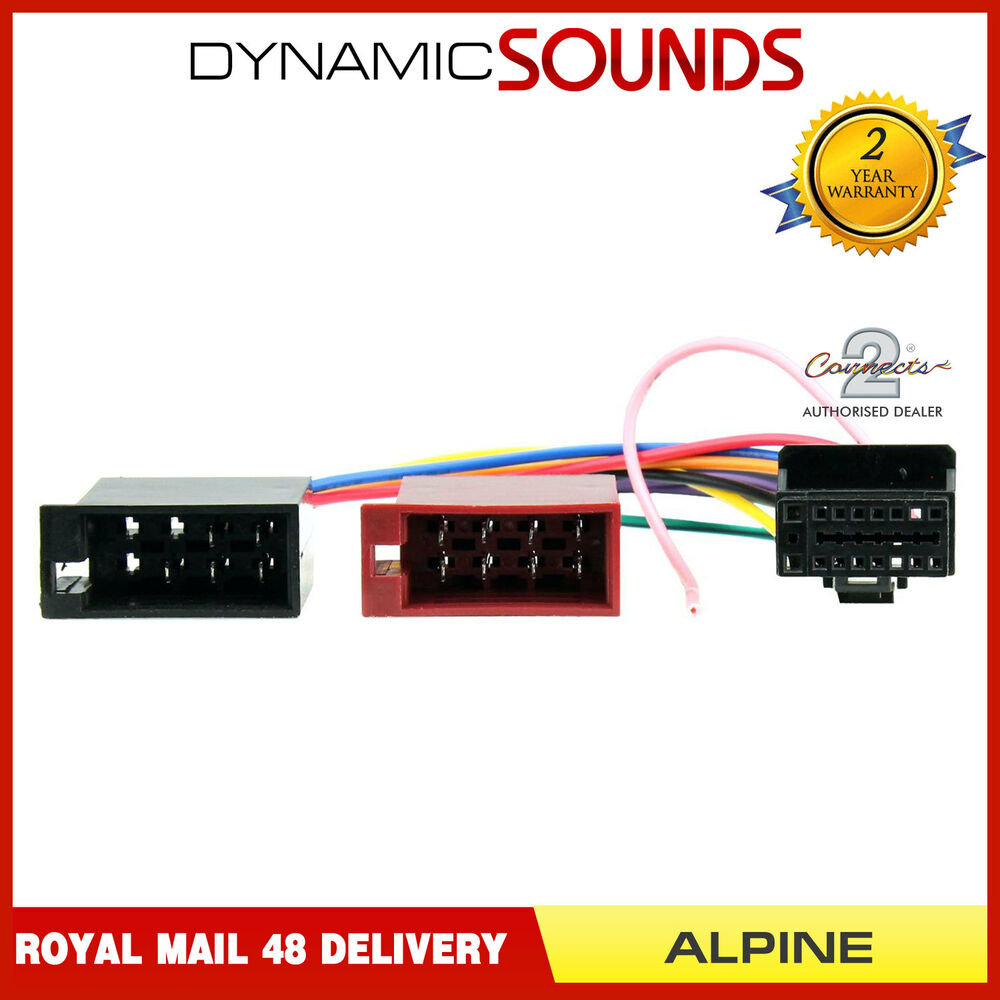 medium resolution of details about ct21al01 16 pin to iso lead headunit radio wiring harness car stereo for alpine
