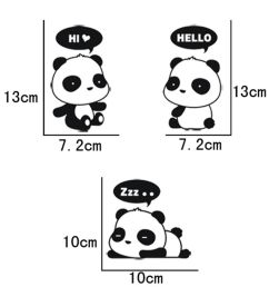 details about 3 pcs cute panda vinyl art quote wall sticker home wall decals switch decor wb [ 1000 x 1000 Pixel ]