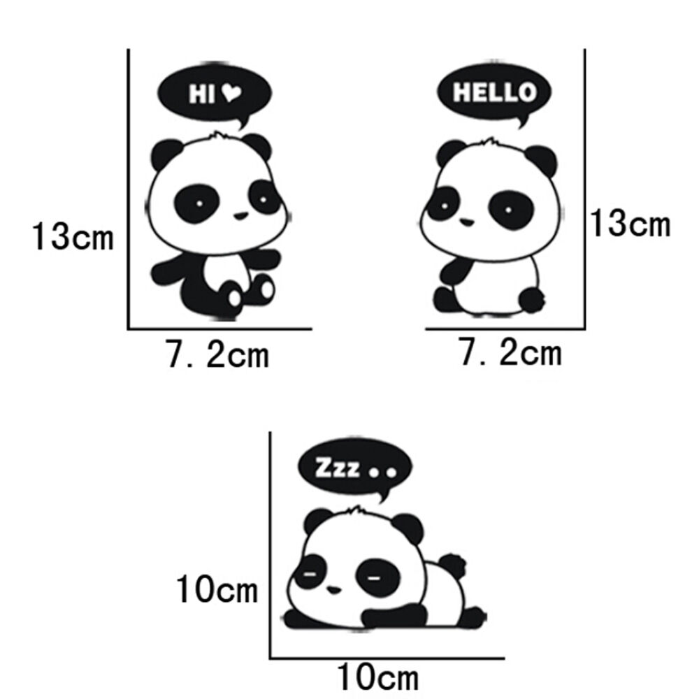 hight resolution of details about 3 pcs cute panda vinyl art quote wall sticker home wall decals switch decor wb