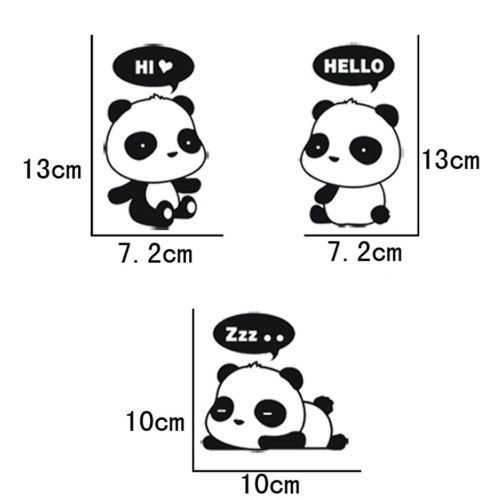 small resolution of details about 3 pcs cute panda vinyl art quote wall sticker home wall decals switch decor wb