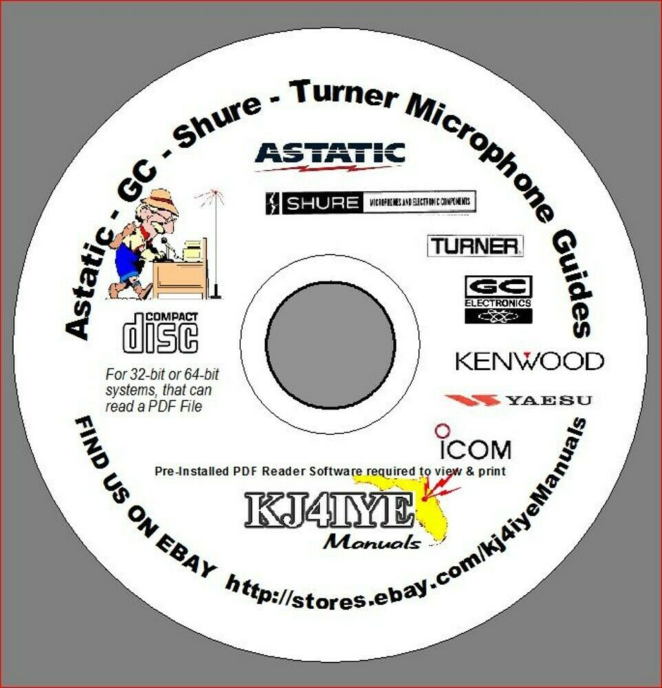 hight resolution of astatic gc shure turner cd microphone wiring guides mic handbook cd only ebay