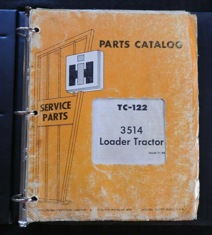 medium resolution of details about 1968 69 farmall international harvester 3514 loader tractor parts catalog manual