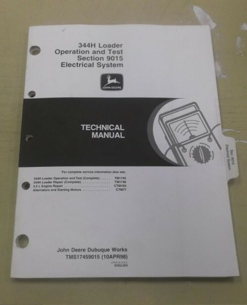 small resolution of details about john deere 344h wheel loader electrical wiring diagrams service manual tm1745
