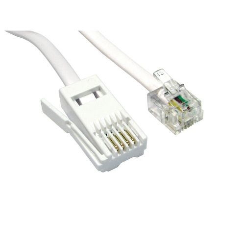 small resolution of details about 2m rj11 to bt modem cable lead sky box phone plug bt socket 4 pin crossover