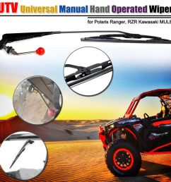 details about utv atv manual hand operated windshield wiper for polaris ranger rzr 900 1000 [ 1000 x 1000 Pixel ]