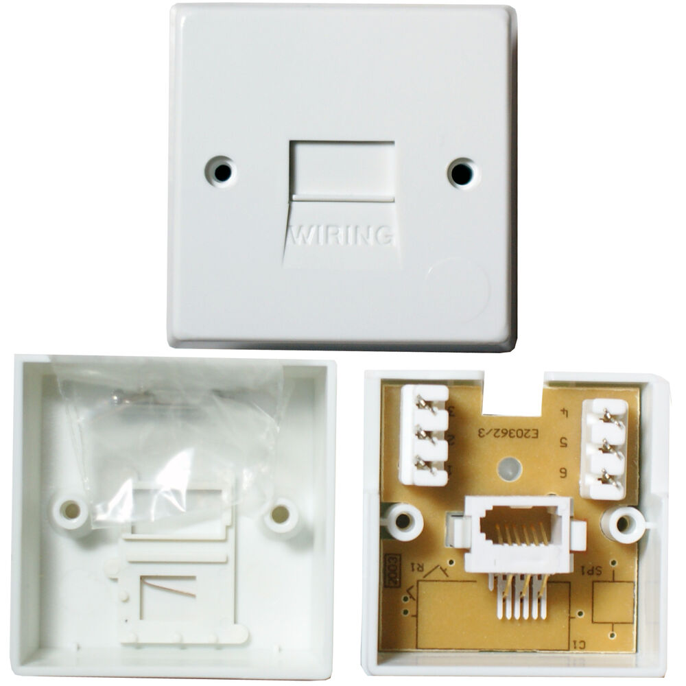 medium resolution of details about bt telephone master socket idc terminals surface wall outlet face plate 1 1a
