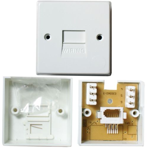 small resolution of details about bt telephone master socket idc terminals surface wall outlet face plate 1 1a