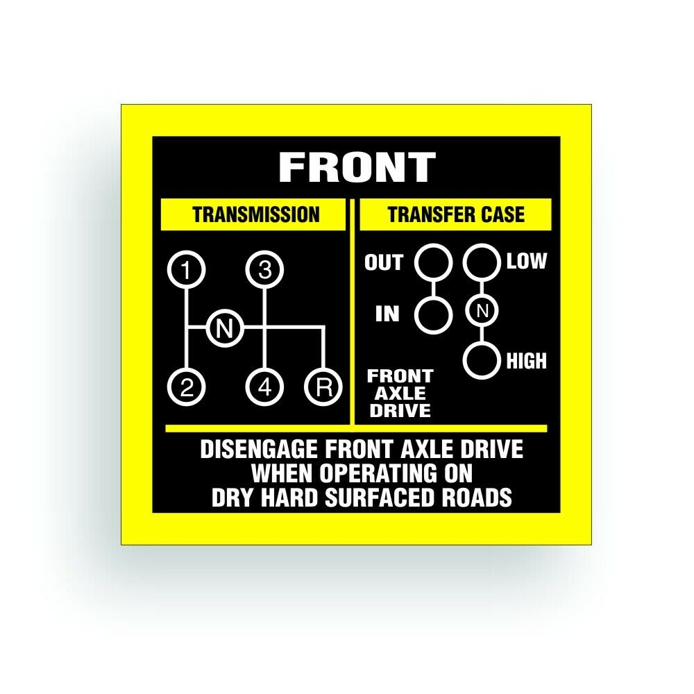 hight resolution of details about transmission shift pattern decal twin stick cj5 cj7 jeep t18 reverse down ar038