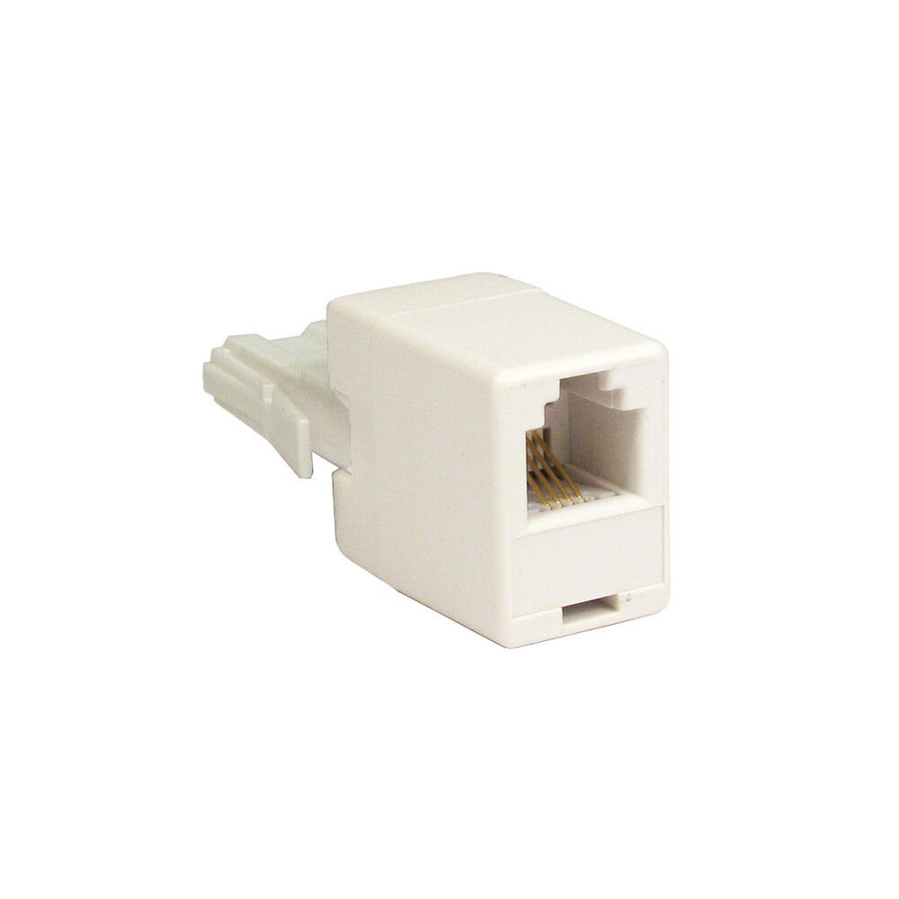 hight resolution of details about rj11 to bt plug adaptor connect adsl dsl cable to bt telephone phone socket