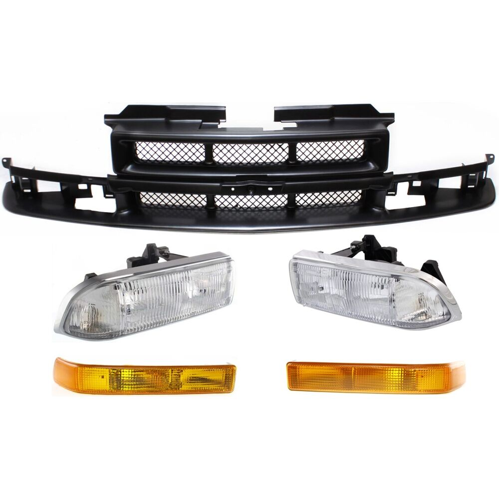 hight resolution of details about grille assembly kit for 1998 2004 chevrolet s10 blazer 5pc