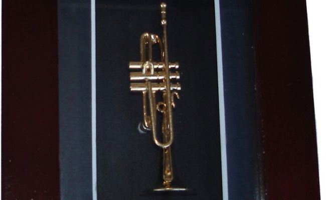 Shadow Box With Trumpet Small Wall Home Decor Ebay