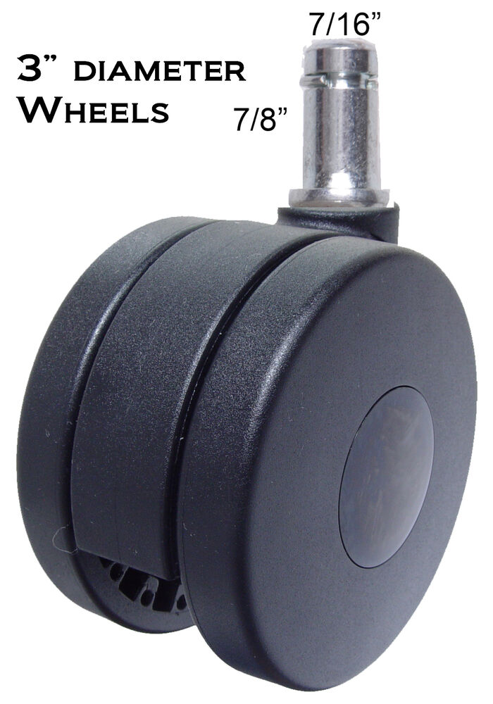casters for office chairs ivory bedroom chair heavy duty wheels 5 pc set 3 diameter ch 75 details about