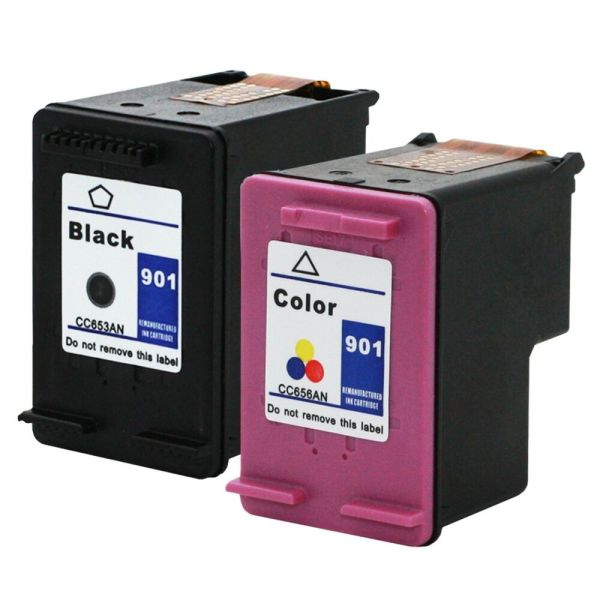 2pks Hp 901 Ink Cartridge Officejet J4500 J4524