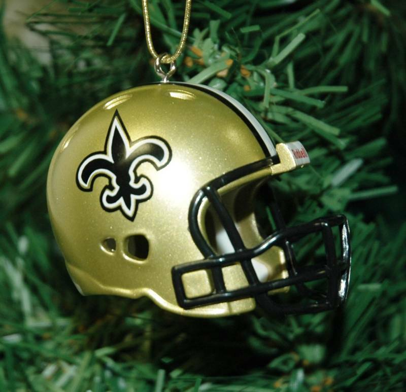 New Orleans Saints Football Helmet Christmas Ornament EBay