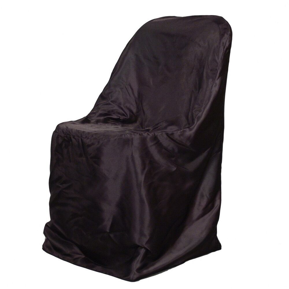 fitted chair covers ebay barber chairs for sale used 1 brand new satin folding ~wedding~ |