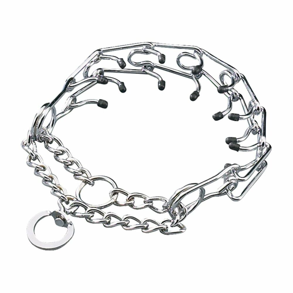 PRONG COLLAR Rubber Tips ALL SIZES Pinch Chain Choke Dog