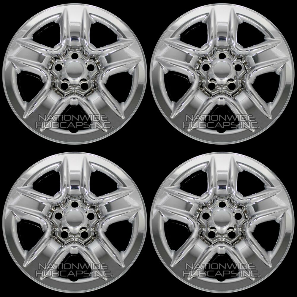 "4 New 2006 2012 Toyota RAV4 17"" Chrome Wheel Skins Hub"