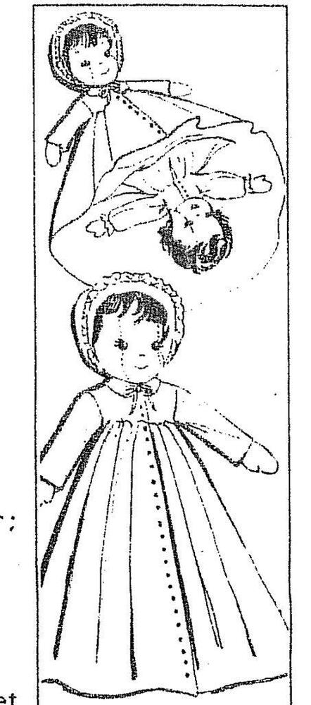 Stuffed Toy Doll PATTERN 7121 Vintage Topsy Turvy Doll