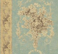 Ronald Redding French Historical Floral In Blue & Antique ...