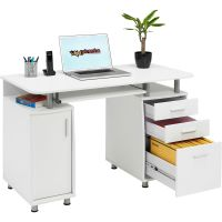 Computer Desk with Storage & A4 Filing Drawer Home Office ...