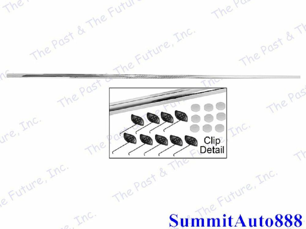 1970 70 Dodge Challenger Trunk Lid Molding w/ Clips MPMG70