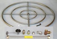 "36"" Stainless Steel FIRE PIT BURNER RING KIT Natural gas"