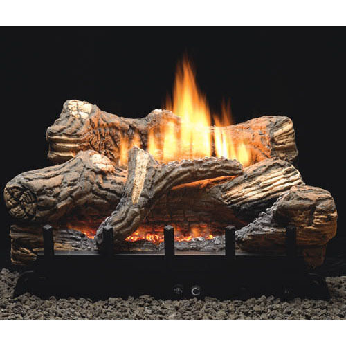 Flint Hill 18 24 30 Vent Free Fireplace Gas Logs COMPLETE REMOTE Start NG LP  eBay