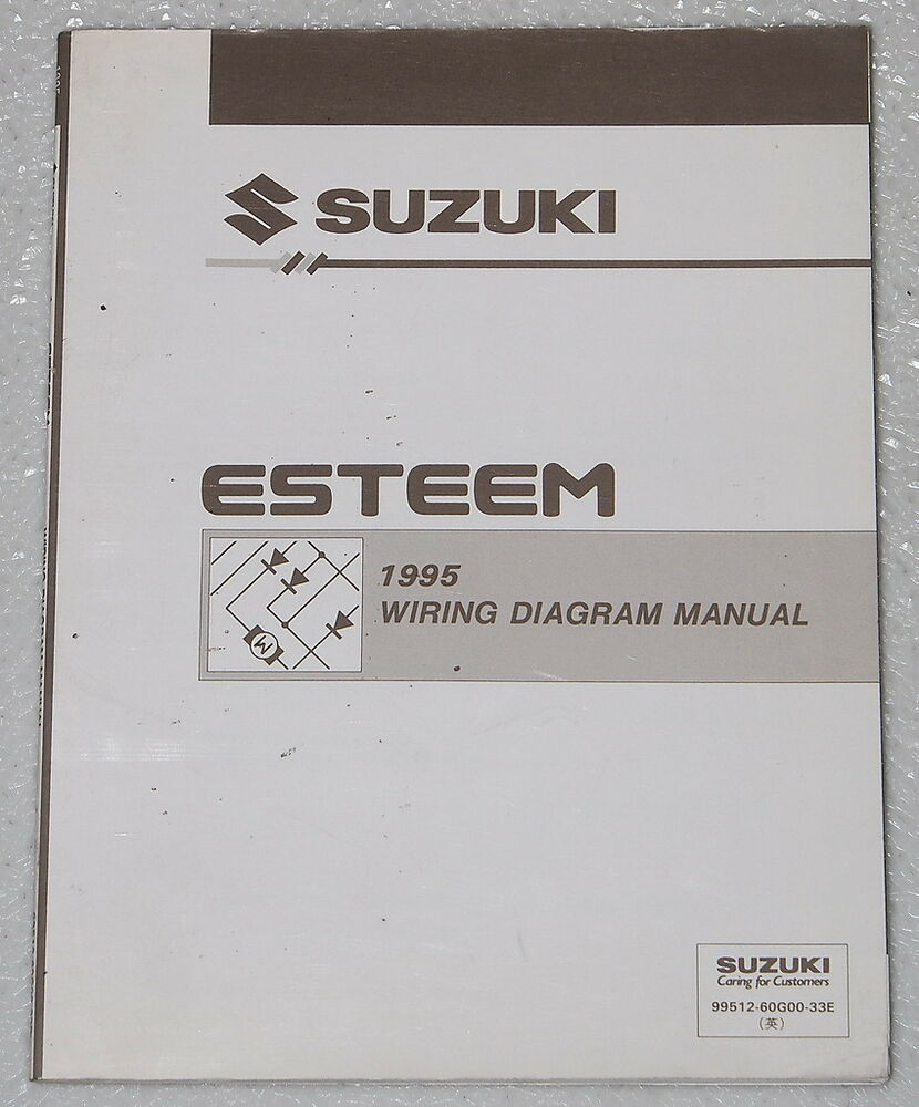 hight resolution of details about 1995 suzuki esteem electrical wiring diagrams factory shop manual gl glx plus 95