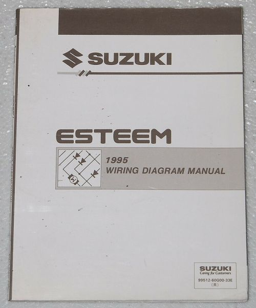 small resolution of details about 1995 suzuki esteem electrical wiring diagrams factory shop manual gl glx plus 95