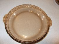 """PYREX Fluted Edge #229 Amber Color Glass 10"""" Deep Dish Pie ..."""
