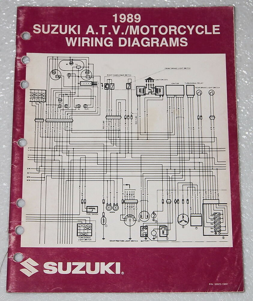hight resolution of 1989 suzuki motorcycle and atv electrical wiring diagrams