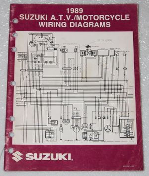 1989 SUZUKI Motorcycle and ATV Electrical Wiring Diagrams