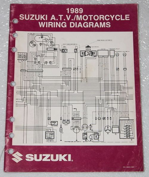 small resolution of 1989 suzuki motorcycle and atv electrical wiring diagrams
