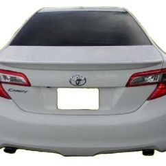 All New Camry Black Toyota Yaris Trd Sportivo Review 2012-2014 Painted Factory Style Rear Lip ...