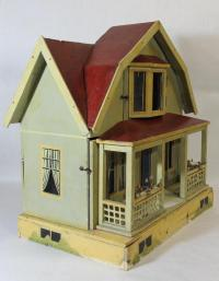 Antique 19thC F.A.O. Shwarz Victorian German Dollhouse