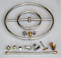 "18"" Stainless Steel FIRE PIT DOUBLE RING GAS BURNER KIT"