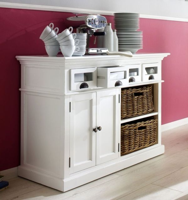 Kitchen Sideboards and Buffets with Baskets