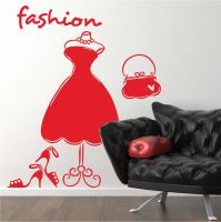 Fashion Dress Mannequin Shoes Bags Vinyl Wall Art Stickers ...