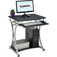 Compact Computer Desk with Keyboard Shelf for Home Office ...