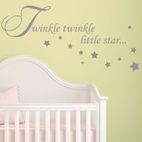 Baby Wall Sticker Quote - Twinkle Twinkle Stars Child ...